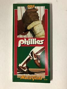 1985 Philadelphia Phillies Baseball MLB Media GUIDE