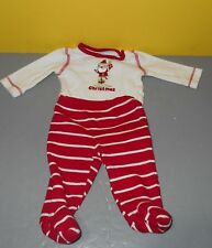 Just one year Carter's Holiday Bodysuit Pant Baby's First Christmas - Size NB