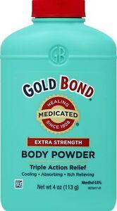 Gold Bond EXTRA STRENGTH Body Powder Lanacane Alternative Triple Action Medicate