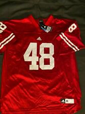 Adidas Ncaa Wisconsin Badgers #48 Red Jersey sz X-Large $70