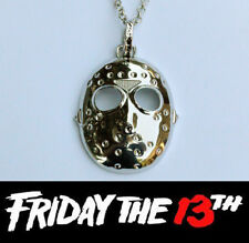 Halloween Friday 13th Jason Voorhees Silver Necklace Silver 4cm hockey goal mask