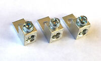 2 AWG Gauge Wire LUG w/mount Joiner Coupler Terminal Block Barrel  3 pack