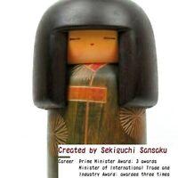 Kimono Girl Sansaku Sekiguchi Japanese Traditional Craft Sosaku Kokeshi Doll K01