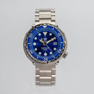 STEELDIVE Tuna Diver SBBN015 Marine Master Mechanical Automatic Watch Blue