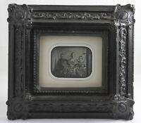DAGUERREOTYPE en format quart plaque une mère avec ses 3 enfant France Vers 1845