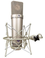 Shock Mount  Microphone Holder Clip For Neumann U87 U87Ai U89i U47 TLM In Black