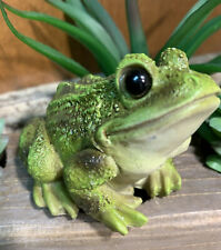 Adorable Cute Frog Figurine Decoration Indoor Nature Statue Outside Frog Hl5