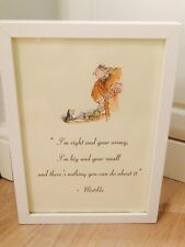 Accroche-porte coeur Roald Dahl «Matilda» fait-main mini coussin