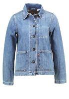 Levis Size XL Womens Modern Fit 27498 Long Sleeve Blue Denim Button Down Jacket