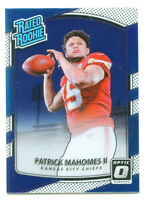 PATRICK MAHOMES 2017 Panini Donruss Optic Rated Rookie Card Chiefs MVP RC #177