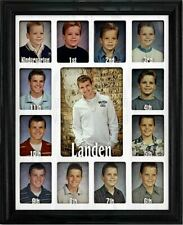 """School Years Picture Frame Personalized - Holds Twelve 2.5"""" x 3.5"""" and One 5 x 7"""