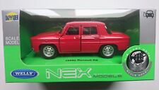 WELLY 1960 RENAULT R8 RED 1:34 DIE CAST METAL MODEL NEW IN BOX