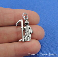 Silver Grim Reaper Charm Angel of Death Pendant Halloween Jewelry NEW