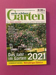 Mein schöner Garten Ausgabe 1 .. Das Jahr im Garten 2021 .. Neu !!!