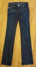 "ROCK & REPUBLIC ""Ice Blue"" Dark Wash Skinny Straight Leg Jeans Blue Size 25 Long"