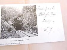 1905-10 Rail Road Tunnel Washington Connecticut CT Post Card