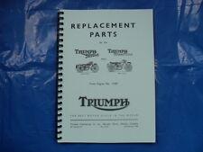 TRIUMPH TERRIER -TIGER CUB  PARTS BOOK  NO4 FOR 1956 MODELS