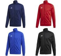 Adidas Core 18 Boys Jackets Junior Training Kids Football Track Jumper Zipped