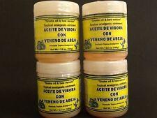 4 POMADAS ACEITE DE VIBORA & VENENO DE ABEJA / SNAKE OIL & BEE VENOM OINTMENTS