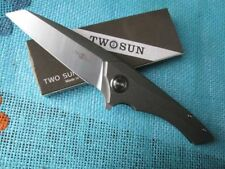 TwoSun Knives Camping Outdoor D2 Titanium Fast Open Big Folding Knife Orca TS84