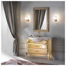 Mobile Da Bagno Foglia Oro In Legno Made In Italy
