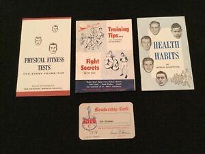 1958 Nat'l Sports Council Booklets *** YOGI BERRA - BOB COUSY - JOE LOUIS ***