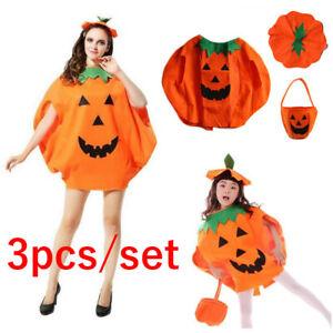 Halloween Fancy Dress Party Adults Kids Novelty Pumpkin Children Costume Outfit