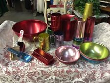 Vintage Aluminum Bowls, Tumblers, Cups, Butter, Measuring Cups, Pitcher, Mugs