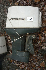 2 USED JOHNSON EVINRUDE OMC 55 HP OUTBOARD MOTOR ENGINE for parts and one power