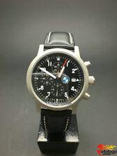 Chronographe militaire cuir bracelet montre à quartz pr BMW X5 X6 M tech X1 Noir