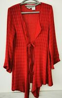 THE MASAI Clothing Company Strickjacke Rot Gr. S Cardigan Schnürung   #LRZ1028
