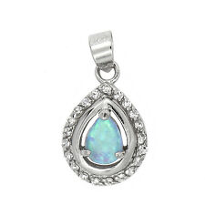 Charm Or Pendant Silver Vintage Synthetic Opal