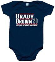 Baby Tom Brady Antonio Brown New England Patriots 2020 Creeper Romper