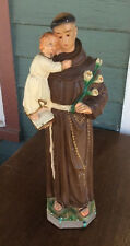 "VINTAGE CATHOLIC ST ANTHONY INFANT JESUS 17 1/2 "" CHALKWARE  STATUE"