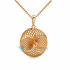 Ladies Fashion Jewellery 18K Rose Gold Plated Multi Circle Pendant Necklace