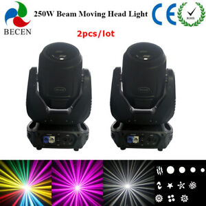 2pcs RDM 250W Beam Moving Head Light 8+8+8 Prism Touch Screen DMX DJ Lighting