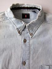 Levi's Denim Shirt Men's XL Extra Large Loose Blue Buttondown Vintage LSHz713 #