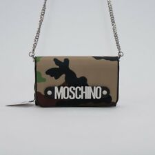 Moschino Couture Jeremy Scott CAMOUFLAGE GREEN BROWN NYLON WALLET SHOULDER BAG