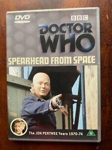 Doctor Who Spearhead from Space DVD Classic BBC Sci-Fi TV Series  w/ Jon Pertwee