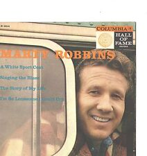MARTY ROBBINS--4-SONG HARD COVER-EP+45--(HALL of FAME SERIES)--PS--PIC--SLV