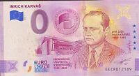 BILLET 0  EURO IMRICH KARVAS ANNIVERSARY  SLOVAQUIE  2020 NUMERO DIVERS