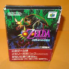 Nintendo 64 N64 la leggenda di Zelda Majora's Maschera CARTUCCIA GIOCO Japan in scatola