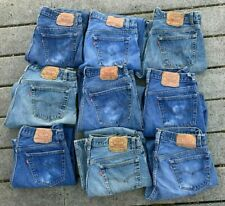 9 Lot 1980s 1990s VTG LEVI'S 501 Made In USA Button Fly Denim Blue Jeans 32x28