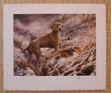 "MICK CAWSTON LIMITED EDITION SIGNED PRINT  ""WEIMARANER IN THE SNOW"""