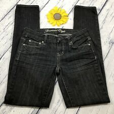 Vintage American Eagle Skinny Jeans Womens Size 4 Stretch Black Denim ks480