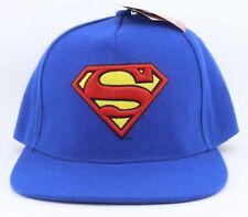 new products 8e820 98e8c Superman Logo Snapback Hat Adjustable Baseball Cap Blue Official DC Comics