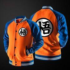 Dragon Ball Z Goku Varsity Jacket Baseball Bomber Hoodie Coat Anime Cosplay