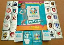 EURO 2020 PREVIEW STICKER OFFICIAL UK PANINI COMPLETE STICKER SET &  ALBUM ***