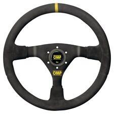 VOLANTE OMP WRC PIEL LISA OD/1980 NEGRO Y AMARILLO