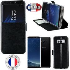 Etui Rabattable Simili Cuir Noir et Ouverture Ecran pour Samsung Galaxy S8 G950